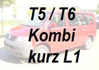 VW T5 / T6 Kombi Kurz L1