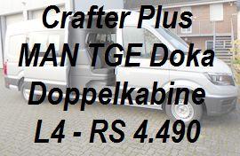 Crafter MAN TGE Plus Doppelkabine L4 lang