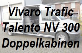 Vivaro Trafic Talento NV 300 Doppelkabine