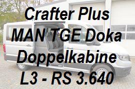 Crafter MAN TGE Plus Doppelkabine L3 standard