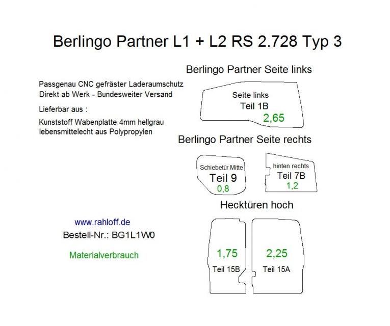Partner Berlingo Laderaumschutz Arzneimitteltransporte