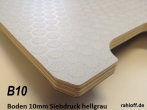Siebdruckplatte x10 mm hellgrau ca. 2.500 x 1.880 x mm