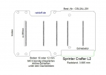 Sprinter Crafter Boden mit 5 Ladungssicherungs- Schienen L2-201
