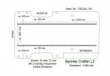 Sprinter Crafter Boden mit 2 Ladungssicherungs- Schienen L2-101
