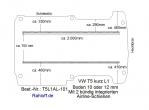 T5 / T6 Boden mit 2 Ladungssicherungs- Schienen L1 T101