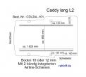 Caddy Boden 2 Airline Schienen längs  L2 - T101