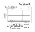 Caddy Boden 3 Airline Schienen längs  L2 - T301