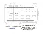T5 / T6 Kombi Boden mit 2 Ladungssicherungs- Schienen L1 - T101