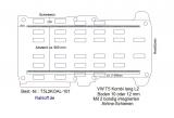 T5 / T6 Kombi Boden mit  2 Airline Schienen längs L2-T101