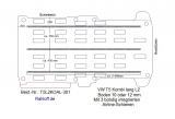 T5 / T6 Kombi Boden mit 3 Airline Schienen längs L2-T301