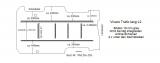 Trafic Vivaro Boden mit 6 Ladungssicherungs-Schienen L2 alt T203