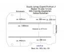 Scudo Expert Jumpy ProAce Boden 2 integr. Airlineschienen L1 101
