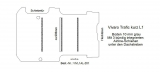 Vivaro Trafic Boden mit 3 Ladungssicherungs-Schienen L1 alt T201