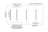 Transit neu Boden mit 4 Ladungssicherungs- Schienen L3 FR T201
