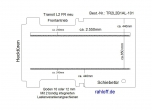 Transit neu Boden mit 2 Lastenverankerungs-Schienen L2 FR T101