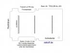 Transit neu Boden mit 3 Lastenverankerungs-Schienen L2 FR T201