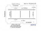 Transit neu Boden mit 5 Lastenverankerungs-Schienen L2 FR T203
