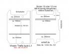 Vivaro Trafic NV 300 Talento Boden mit 2 Ladungssicherungs-Schienen L1 neu T101