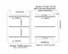 Vivaro Trafic Boden mit 3 Ladungssicherungs-Schienen L1 neu T301