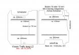 Vivaro Trafic NV300 Talento Boden mit 2 Ladungssicherungs-Schienen L2 neu T101