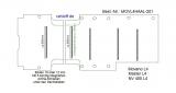 Movano Master Boden mit 5 Ladungssicherungs-Schienen (L4 T201)