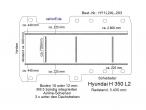Hyundai H 350 Boden mit 5 Ladungssicherungs- Schienen L2-203