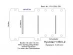 Hyundai H 350 Boden mit 3 Ladungssicherungs- Schienen L2-201