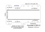 Hyundai H 350 Boden mit 2 Ladungssicherungs- Schienen L2-101