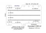 Hyundai H 350 Boden mit 3 Ladungssicherungs- Schienen L2-301
