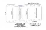 Hyundai H 350 Boden mit 4 Ladungssicherungs- Schienen L3-201