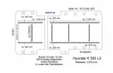 Hyundai H 350 Boden mit 8 Ladungssicherungs- Schienen L3-203