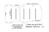Crafter - MAN TGE Boden mit 5 Ladungssicherungs- Schienen quer L3 Typ 201