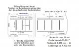 MAN TGE - Crafter Boden mit 11 Ladungssicherungs- Schienen L4 203