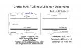 Crafter - MAN TGE neu Boden mit 4 Ladungssicherungs- Schienen L5 101