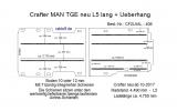 Crafter - MAN TGE Boden mit 7 Ladungssicherungs- Schienen L5 Typ 406