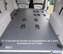 T5 / T6 Caravelle Boden mit Sitz - Ausschnitten L1