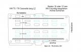 T5 / T6 Caravelle Boden mit 3 Airline Schienen längs L2-T301