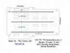 T5 / T6 Caravelle Boden mit 3 Airline Schienen längs L1-T301