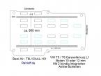 T5 / T6 Caravelle Boden mit 2 Airline Schienen längs L1-T101