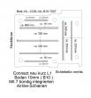 Connect Boden mit 7 Airline Schienen längs + quer (L1 - 207)