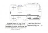 Crafter - MAN TGE Boden mit 9 Ladungssicherungs- Schienen L3 Typ 3091 ( EINTEILIG )