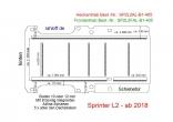 Sprinter neu Boden mit Zurrschienen längs und quer- L2 - T405 - einteilig