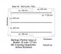 Citroen Berlingo bis 11-2018 Boden mit 3 integr. Zurrschienen L2 - 301