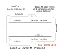 Toyota Proace L1, neu ab 06-2016,  Boden mit 2 Ladungssicherungs-Schienen neu T101
