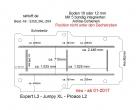 Toyota ProAce L2, neu ab 06-2016,  Boden mit 5 Ladungssicherungs-Schienen L3 neu T204